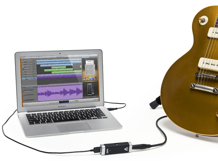 JAM is a direct digital connection from your guitar to your Mac