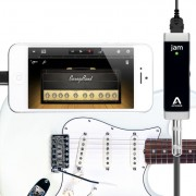 The JAM is a direct digital connection from your guitar cable to the iPhone