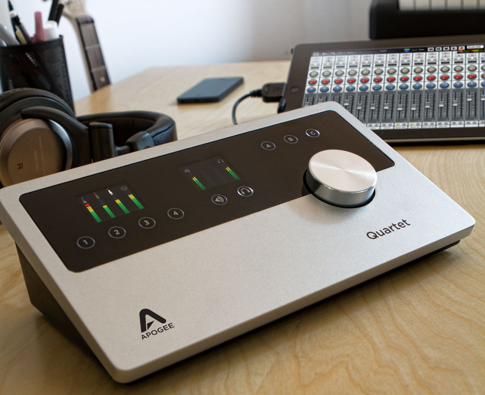 Apogee Quartet - best usb audio interfaces for mac