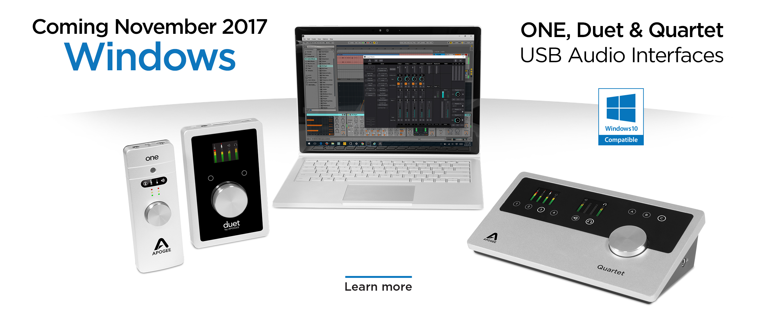Apogee electronics audio interfaces for ipad iphone and mac for Windows home page
