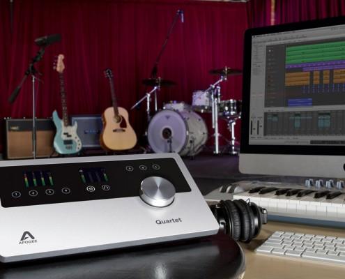 Apogee Quartet in the Studio