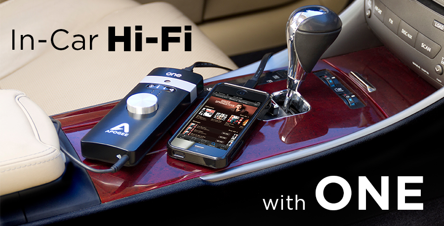 Audiophile Quality Music In Your Car Apogee One Dac