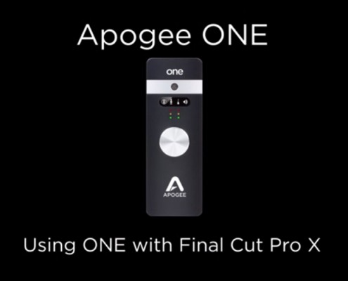 Apogee ONE - FCPX