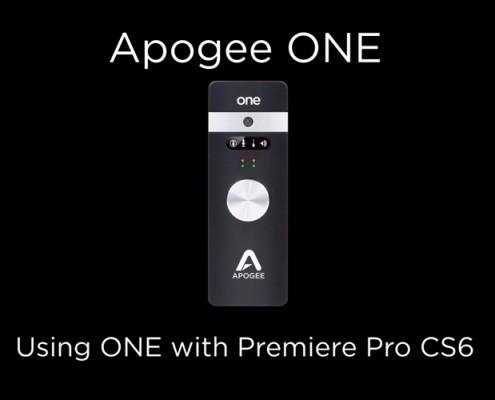 Apogee ONE - Premiere