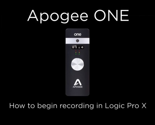 Apogee ONE - Recording Logic X