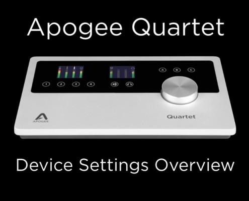 Quartet - Device Settings