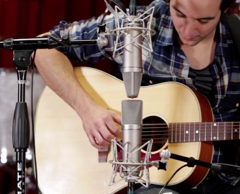 (2) Neumann U87 microphones