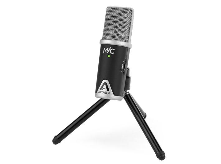 Apogee MiC on tripod stand