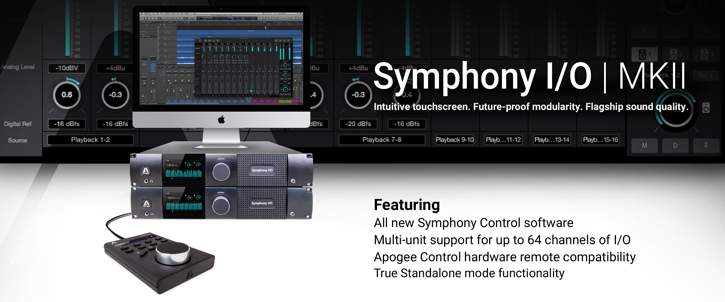 Symphony I O Mk Ii Multi Channel Audio Interface Apogee Electronics Signal Meter Circuit Sound Effects Remote Level