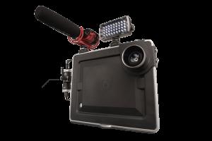 Apogee JAM with iPad Padcaster Video Rig