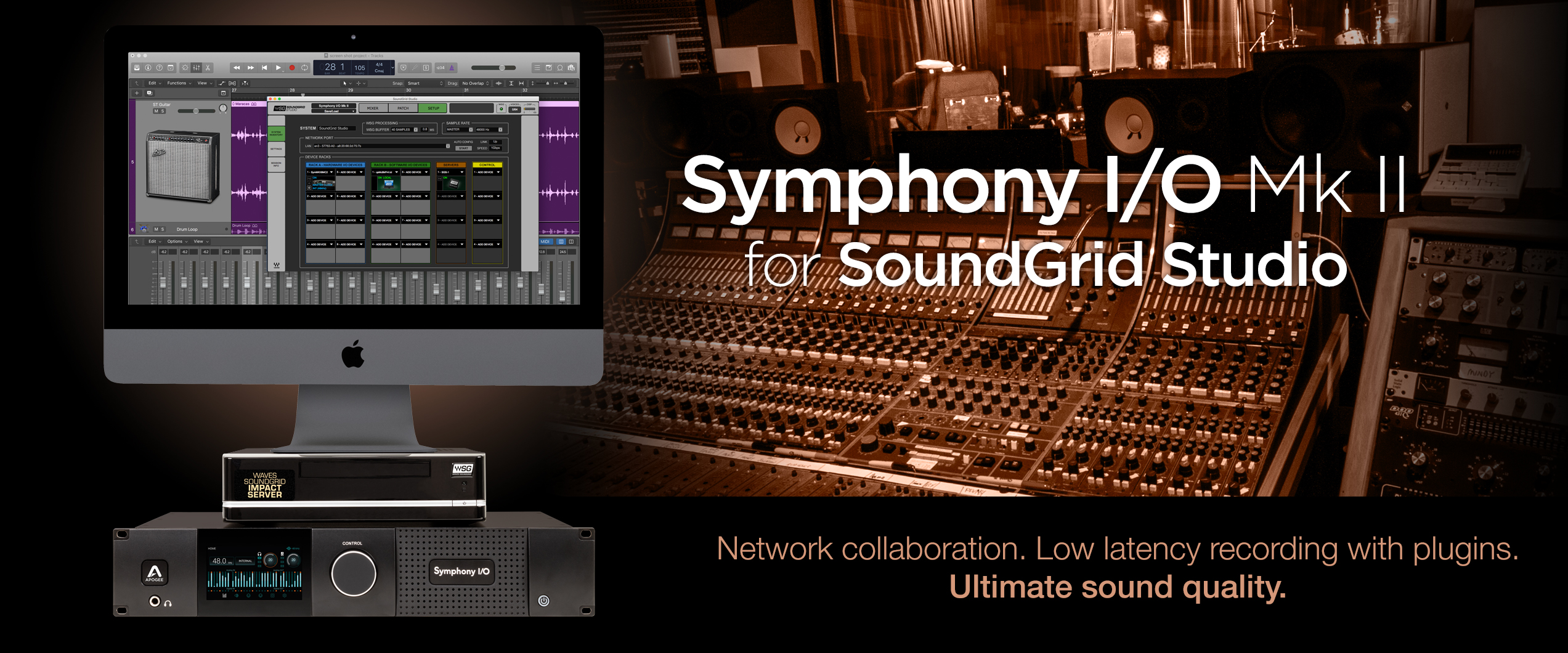 Symphony I/O MK II for SoundGrid Studio