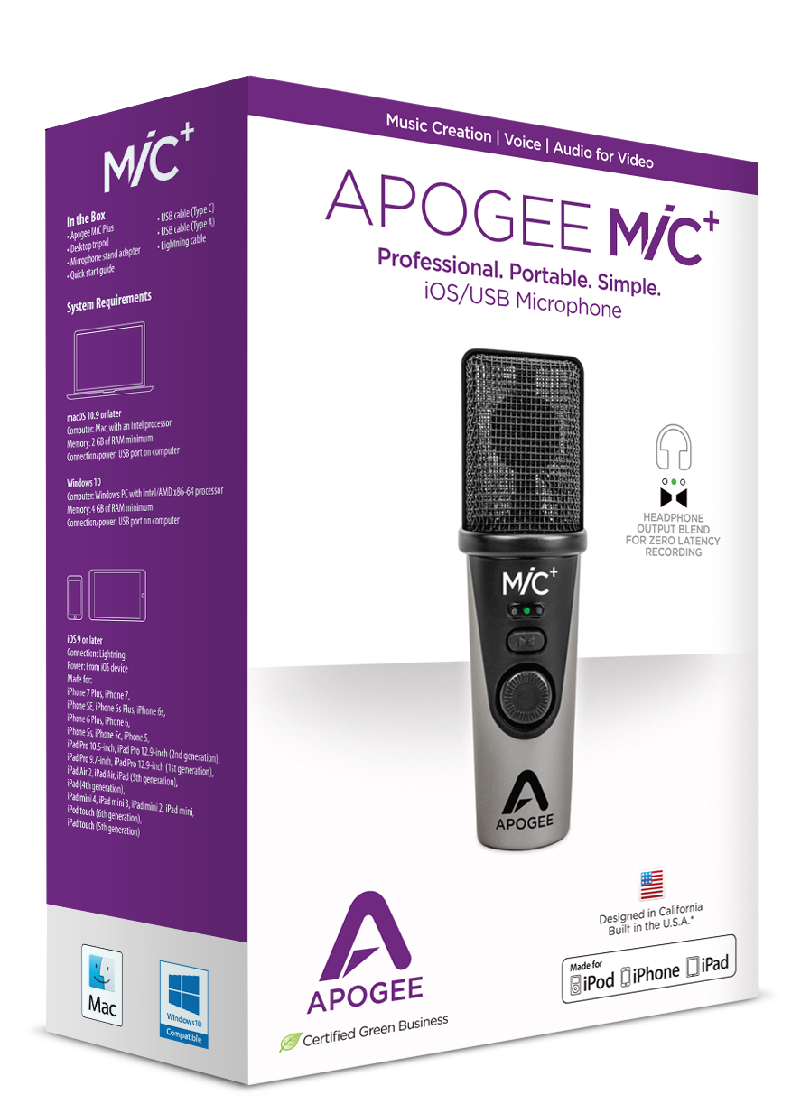 Specifications Mic Apogee Electronics Iphone 5 Cord Wiring Diagram