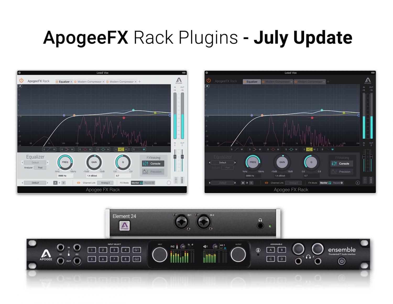 Apogee Fx Rack Plugins July Update Apogee Electronics