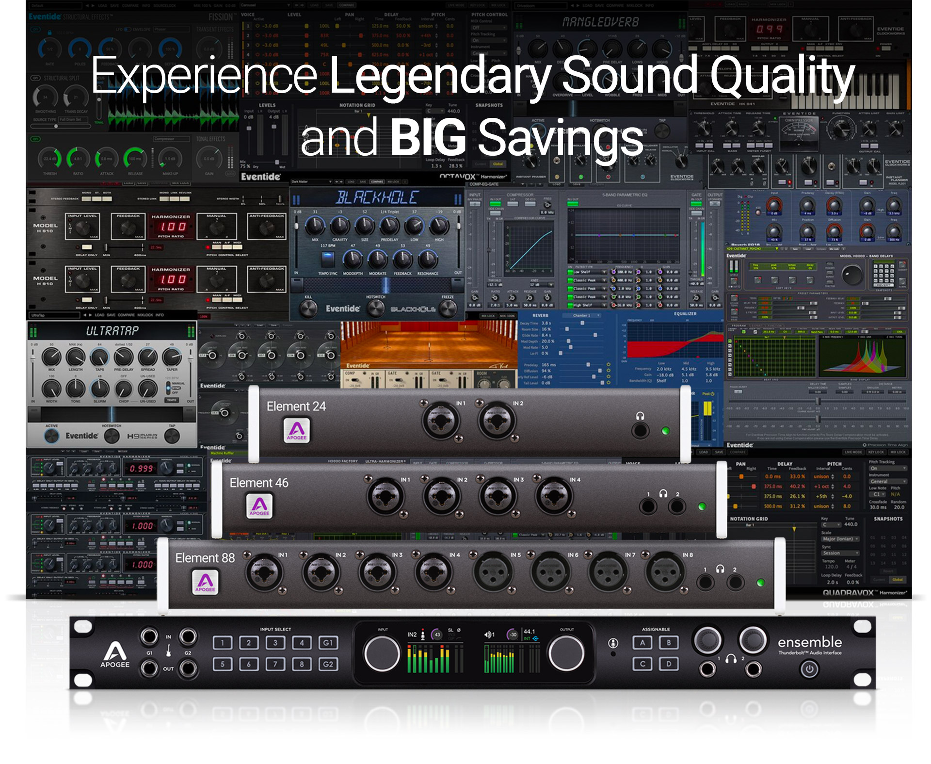 Buy Apogee Ensemble or Element and get Eventide plugins free for 6 months